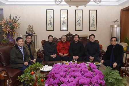 赵晓平院长、王亚丽书记看望慰问国医大师张学文教授